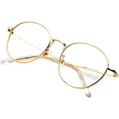 Trendy Round Metal Glasses - Clear Round Metal Glasses These circular glasses are reminiscent of Harry Potter, the Blaine glasses' classic round lens design is a nod to the early century, with a Glasses Frames Trendy, Cool Glasses, Clear Sunglasses, Luxury Sunglasses, Retro Sunglasses, Sunglasses Sale, Round Metal Glasses, Glasses Trends, Lunette Style
