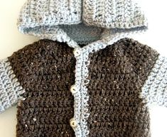 If you know me you know that I have a bit of a crochet obsession. I own way to much yarn for my own good! I find that it is a very relaxing. Crochet Baby Sweater Pattern, Crochet Baby Pants, Crochet Baby Sweaters, Gilet Crochet, Newborn Crochet Patterns, Baby Sweater Patterns, Crochet Hoodie, Crochet For Boys, Crochet Blanket Patterns