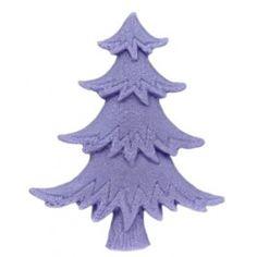 """Molde navidad para hacer jabón """"Abeto plano Navideño"""". Con este molde de silicona artesanal 2D, podrás hacer bonitos detalles para regalar, ideal para jabones. DIY."""