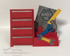 Nailed It and Urban District Masculine Card :: Confessions of a Stamping Addict
