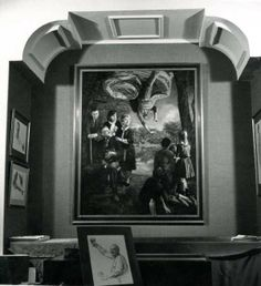 Painting by Bernard Safran (destroyed by artist) - installation at solo show, Fitzgerald Gallery NYC 1964