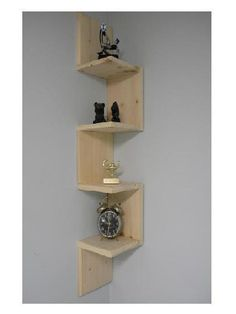 SOLID WOOD .Each individual shelf is approximate 8 inches wide by 8 inches deep with 8 inches of height in between each shelf .overall height is around 3 1/2 ft tall.( approx 43 inches) As you can see in the photo it has four shelves for storage. The one in the photo is actually one that I have in my bathroom but would look great in any room. ====================================================================== Has nice routered edges and sanded for a smooth finish ready for your paint or…
