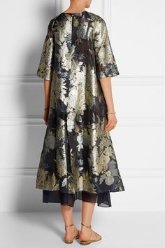Biyan Adine oversized embroidered organza dress