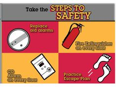 Take some early caution for the fire safety to avoid tension during the fire outbreak. Fire Safety Tips, Escape Plan, Fire Extinguisher, How To Plan