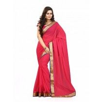 CRIMON COLOR CHIFFON SILK SAREE