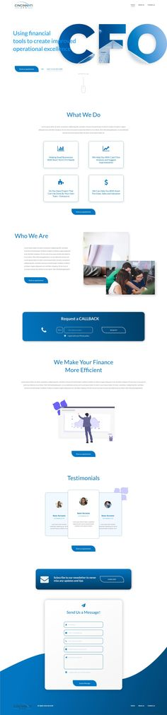 #Homepage for a #CFOService #business   Need a website, or have project in mind? We'll love to help, give us a shout and let's bring your dreams to life.  #websitedesign #ui #uxdesign #uiuxdesign #business