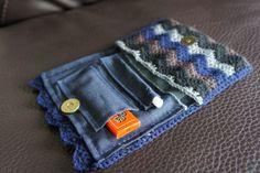 Crochet Tobacco Pouch by IvkinKutak on Etsy, $25.00