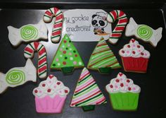 #mycookiecreations Orden entregada una semanita atrás!  #christmascookies #christmastree #christmas #cookies