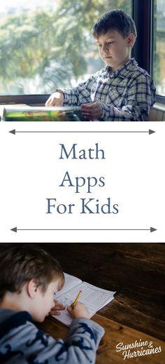 Math Apps for Kids #Math #MathHelp #Apps #AppsForKids #School