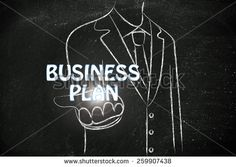 business man holding the word Business Plan