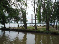 Edgardo Omar Del Rio: Vista del 2do puente sobre el Parana Guazú