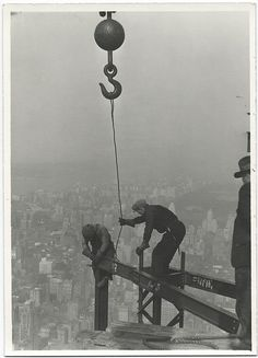 Empire State Building construction workers. c. 1931 photograph by Lewis Hine.