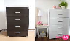 Malowanie mebli z okleiny – co, jak i czy warto? Metamorfoza sypialni - Twoje DIY Filing Cabinet, Painted Furniture, Life Hacks, Sweet Home, Cool Stuff, Storage, House, Home Decor, Ideas