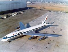 """United Airlines """"Jet Mainliner Long Beach"""" on the Douglas ramp after being converted to a from a later re-registered Converted yet again into a DAC photo Commercial Plane, Commercial Aircraft, Douglas Dc 8, Douglas Aircraft, Airplane Photography, Passenger Aircraft, Aviation Industry, Air And Space Museum, United Airlines"""