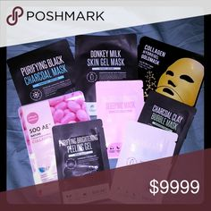 ***Free with Purchase*** As a HUGE THANK YOU for purchasing from my closet, you get your choice of: purifying black charcoal, donkey milk skin gel, collagen hydrogel gold mask, collagen essence mask, acai berry sleeping mask, charcoal bubble clay mask, purifying brightening peeling gel and donkey milk sleeping mask. Makeup