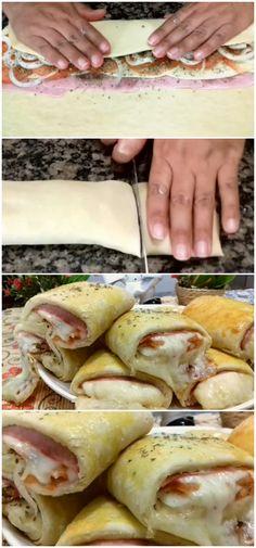 JOELHOS DE QUEIJO E PRESUNTO, O MELHOR SALGADO DO MUNDO! #queijo #cheese #salgados #lanches #presunto #receita #gastronomia #culinaria #comida #delicia #receitafacil