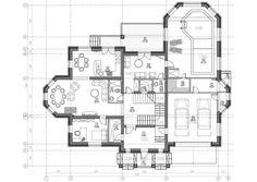 Проект двухэтажного дома с бассейном «Шербон» Plans Architecture, 4 Bedroom House Plans, Luxury House Plans, Plan Design, My Photos, Floor Plans, Flooring, How To Plan, Projects