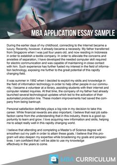 mba document samples mbadocument   mbacurriculum net mba essay writing