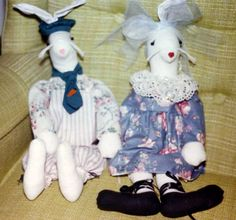 French Rabbit Dolls - 1991