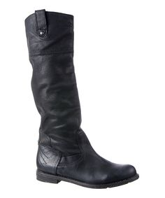 This Black Petaluma Leather Boot by OTBT is perfect! #zulilyfinds
