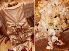 Wildflower Linen - Iridescent Taffeta Stardust Diana Chivari Chair Cover