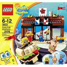 LEGO SpongeBob SquarePants Krusty Krab Adventures -- Find out more about the great product at the image link. (This is an affiliate link) Lego Sets, Lego Building Sets, Building Ideas, Legos, Krusty, Lego Spongebob, Spongebob Patrick, Lego Minecraft, Lego Moc
