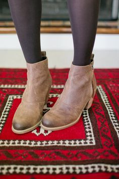 Joust burnished leather bootie
