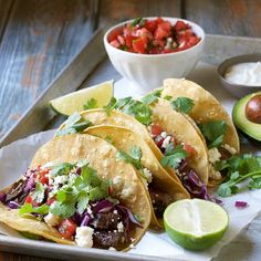 Jump to Recipe Print Recipe Carne Asada Tacos are one of the best ways to serve grilled carne asada to a crowd! Put the carne asada on the BBQ, warm the tortillas and serve all of the toppings family style for a fun and festive meal! You have a house full of hungry people, a...Read More