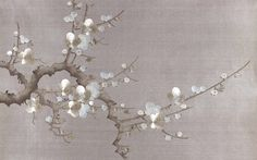 Prunus - jericho ~ Wallpaper by Fromental Chinese Painting, Chinese Art, Chinoiserie, Handmade Wallpaper, Diy Bed Frame, Art Japonais, Paint Background, Of Wallpaper, Flower Wallpaper