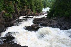 Oxtongue River - Ragged Falls - Ontario Parks near Huntsville Ontario