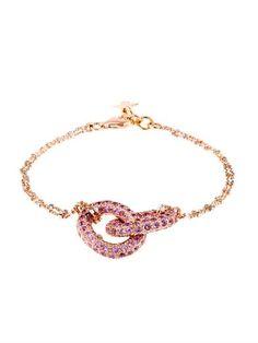 Sapphire & gold sparkly double-link 1885 bracelet   Carolina B...