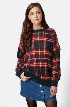 love this plaid sweater