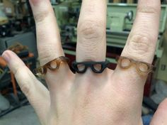 Cellulose acetate glasses rings. I made these!