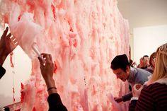 Cotton Candy Installation gives blankets of sticky sweet cotton candy art installations by Finnish artist Erno-Erik Raitanen. Candy Art, Candy Floss, Installation Art, Art Installations, Experiential, Textile Art, Cotton Candy, Haha, It Works