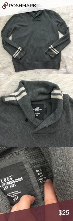 NWOT H&M Grey Pullover Sweater Brand new with no flaws. Has front pocket. NO TRADES PLEASE H&M Sweaters