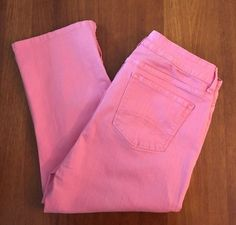 NYDJ Not Your Daughters Jeans Womens Sz 12 (32x20) Pink Crop Pants Stretch USA #NotYourDaughtersJeansNYDJ #Crops