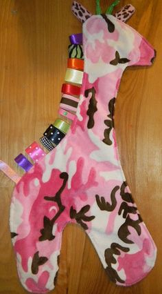 meet Lola the giraffe taggie , via Flickr they only 15.00 check out my facebook page Hand Crafted By Rika you can find so much more
