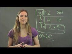 Fastest Way to Get the Least Common Denominator : Math Tutorials - YouTube