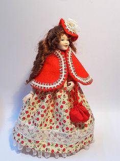 Dollhouse clothing/dress cape jacket bonnet & bag/reticule | Etsy