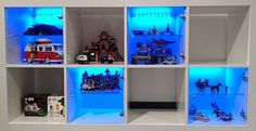 Would you like to build a LEGO room where all your LEGO sets and projects are displayed and stored neatly? Check out this DIY LEGO room project! Lego Storage, Kids Storage, Lego Display Shelf, Boy Room, Kids Room, Lego Math, Geek Room, Lego Bedroom, Lego Construction