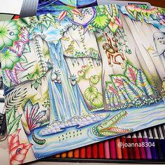 Magical  jungle part 4,5 매지컬정글 4,5페이지 완성 요런 하늘은 첨 시도해봤는데 생각보다 잘나와서…