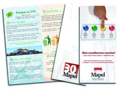 Folder campanha de conscientização - Mapel Soluções Inteligentes em Sistemas de Impressão