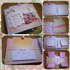 Shabby Chic Pregnancy Journal Bespoke Handmade | Splashbunny Designs MISI Handmade Shop