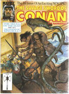 The Savage Sword of Conan the Barbarian. Vol. 1, No. 190. U.S. Marvel Comic. Oct. 1991.