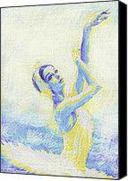 Blue Ballerina Digital Art by Jane Schnetlage - Blue Ballerina Fine Art Prints and Posters for Sale