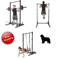 New Home Gym Power Rack Cage Exercise Stand Pull Up Bar Workout Fitness Training | Sporting Goods, Fitness, Running & Yoga, Strength Training | eBay!