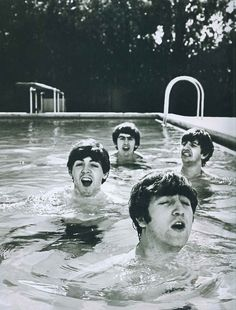 LIFE magazine~ very careful not to get their hair wet haha