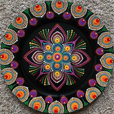Best 12 And it's completed……😀 Dining decor…… Light weight dot mandala artwork 🏵️ Mandala Artwork, Mandala Canvas, Mandala Painting, Mandala Design, Mandala Pattern, Mandala Painted Rocks, Mandala Rocks, Dot Art Painting, Stone Painting