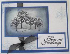 Handmade Christmas Cards set of 3 tree