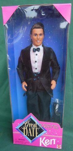 1996 KEN GREAT DATE BOYFRIEND BARBIE DOLL TOY NRFB NEW MIB MATTEL 14837 #DollswithClothingAccessories